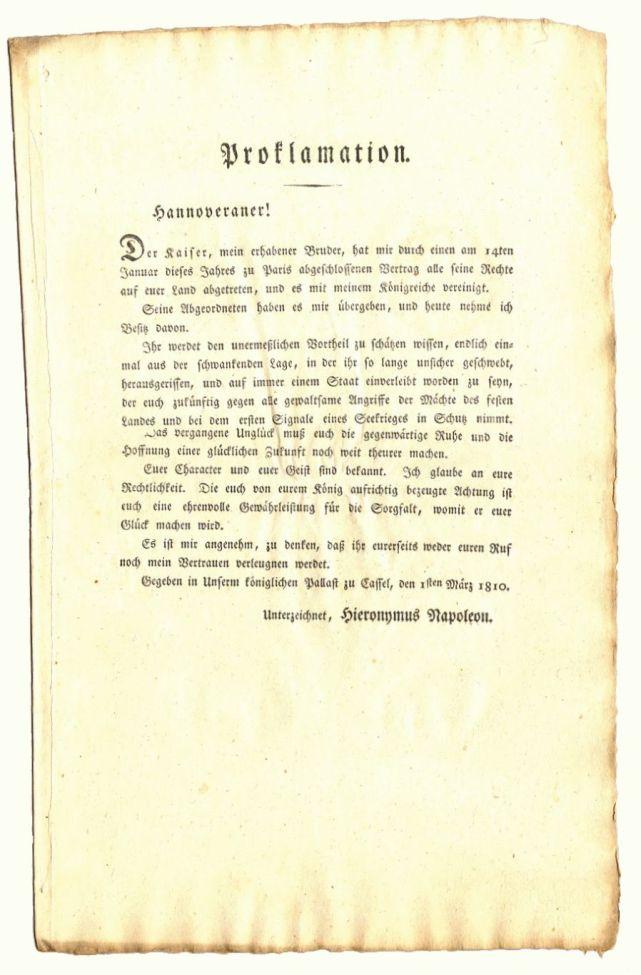 Acc. 1 Nr. 4009 Proklamation 1810
